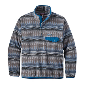 patagonia Men's Lightweight Synchilla® Snap-T® Fleece Pullover laughing waters smlder blue