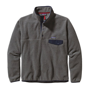 patagonia Men's Lightweight Synchilla® Snap-T® Fleece Pullover nickel and navy