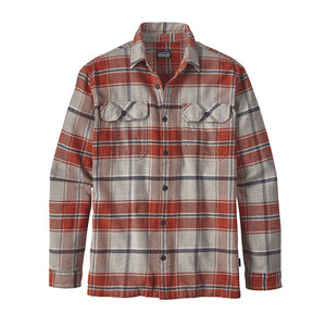 Patagonia Men's Long-Sleeved Fjord Flannel Shirt roots red