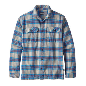 Patagonia Men's Long-Sleeved Fjord Flannel Shirt andes blue