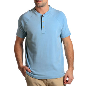Puremeso Heathered Short Sleeve Henley