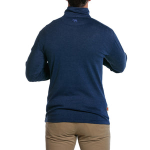 Puremeso Quarter Zip Pullover in Navy   - 3