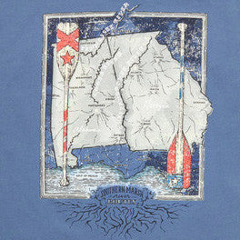 River Route Collection - Alabama & Georgia Tee in Bluestone by Southern Marsh  - 2