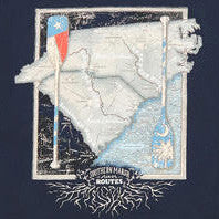 River Route Collection - North Carolina & South Carolina Tee in Navy by Southern Marsh  - 2