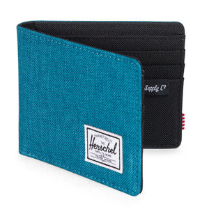 Roy Wallet in Petrol Crosshatch by Herschel Supply Co.  - 1