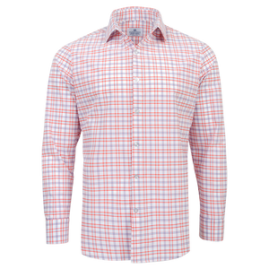 "The ""Sawgrass"" Button Down in Red, Orange, & Purple Check by Mizzen + Main"