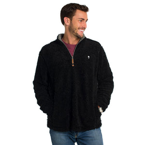 Sherpa Pullover with Pockets in Black by The Southern Shirt Co.