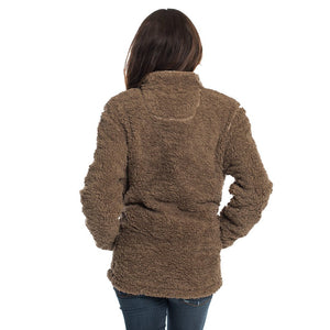 Sherpa Pullover with Pockets in Caribou by The Southern Shirt Co.