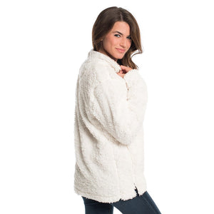 Sherpa Pullover with Pockets in Marshmallow by The Southern Shirt Co.