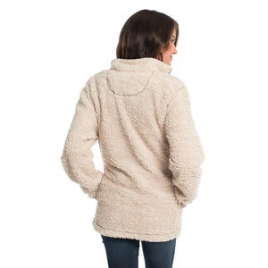 Sherpa Pullover with Pockets in Oyster Gray by The Southern Shirt Co.