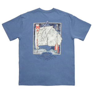 River Route Collection - Alabama & Georgia Tee in Bluestone by Southern Marsh  - 1