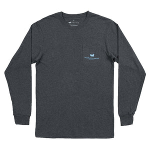 Southern Marsh Long Sleeve Ski Trip Tee in Midnight Gray