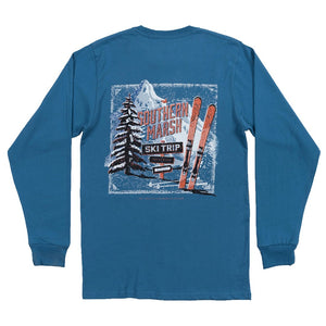 Southern Marsh Ski Trip Long Sleeve Tee Shirt in Slate