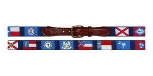 Southern States Needlepoint Belt in Navy