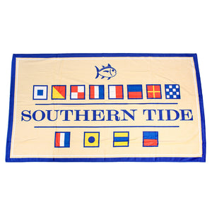 Nautical Flag Beach Towel in Pineapple