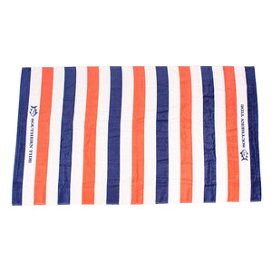Striped Beach Towel in Sunset