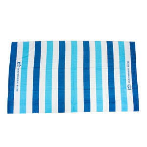 Striped Beach Towel in Turquoise