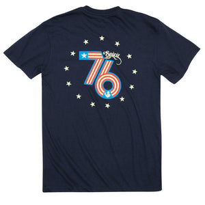 Spirit of '76 Short Sleeve Pocket Tee in Navy
