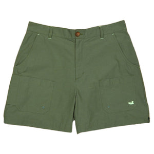 The Tarpon Flats Fishing Short in Dark Green by Southern Mars
