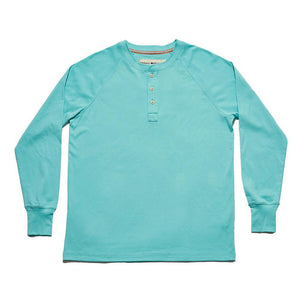 The Normal Brand Long Sleeve Lightest Weight Puremeso Henley in Mint