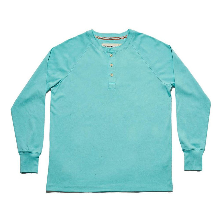 The Normal Brand Long Sleeve Lightest Weight Puremeso Henley in River