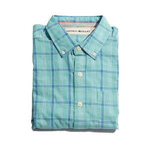The Normal Brand Nikko Plain Weave Button Down in Pacific