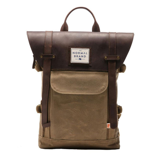 The Normal Brand The Top Side Leather Backpack in Tan