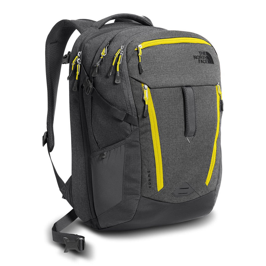 The North Face Surge Backpack in Mid Grey & Asphalt Grey Melange