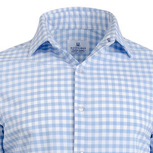"The ""Hampton"" Button Down in Light Blue Large Gingham by Mizzen + Main"