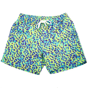 The Neon Leopard Swim Trunk in Multi by Kennedy  - 1