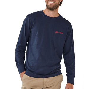 The Normal Brand Long Sleeve Industrial T in Navy