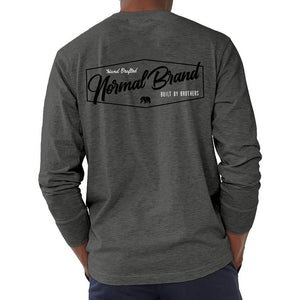 The Normal Brand Long Sleeve Industrial T in Tri Blend Grey