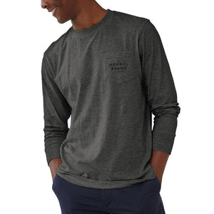 The Normal Brand Long Sleeve Vintage Bear T in Tri Blend Grey