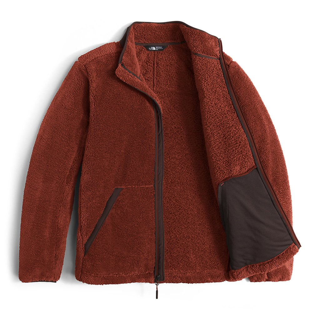 37287b2d00f The North Face Men s Campshire Full Zip Sherpa Fleece in Brandy Brown
