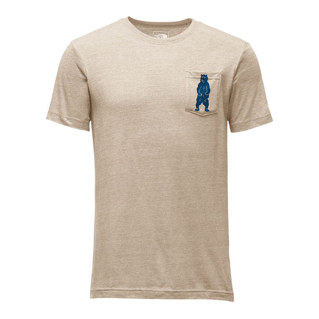 92e9046ffc0 The North Face Men's Short Sleeve Americana Pocket Tee in TNF Oatmeal  Heather