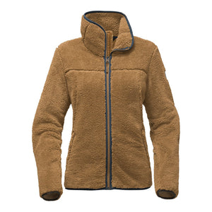The North Face Women's Campshire Full Zip Sherpa Fleece in Biscuit Tan
