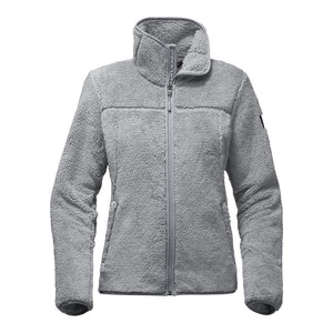 The North Face Women's Campshire Full Zip Sherpa Fleece in Mid Grey