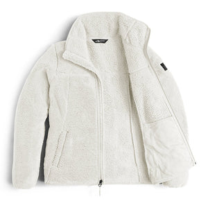 The North Face Women's Campshire Full Zip Sherpa Fleece in Vintage White