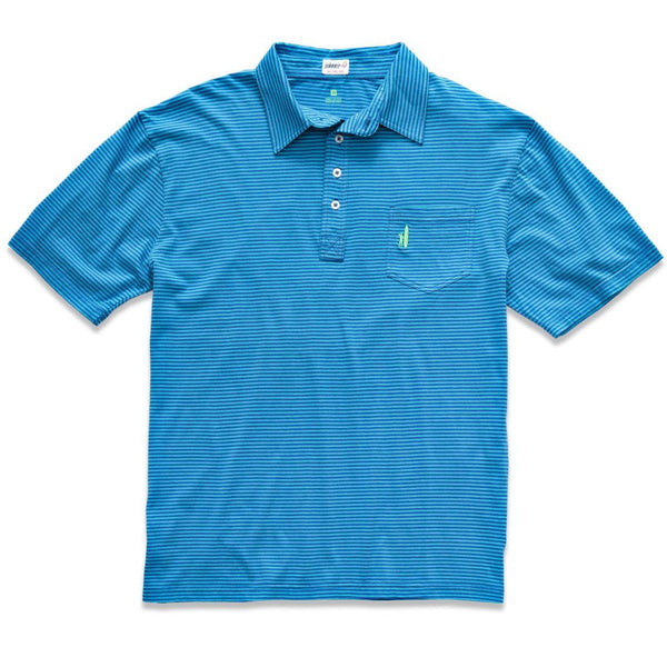 The Wilshire Polo in Riptide and Blue Mist