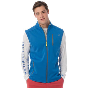 Tide To Trail Performance Vest in Royal Blue by Southern Tide