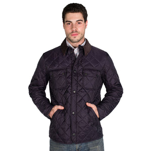 Tinford Quilted Jacket in Navy