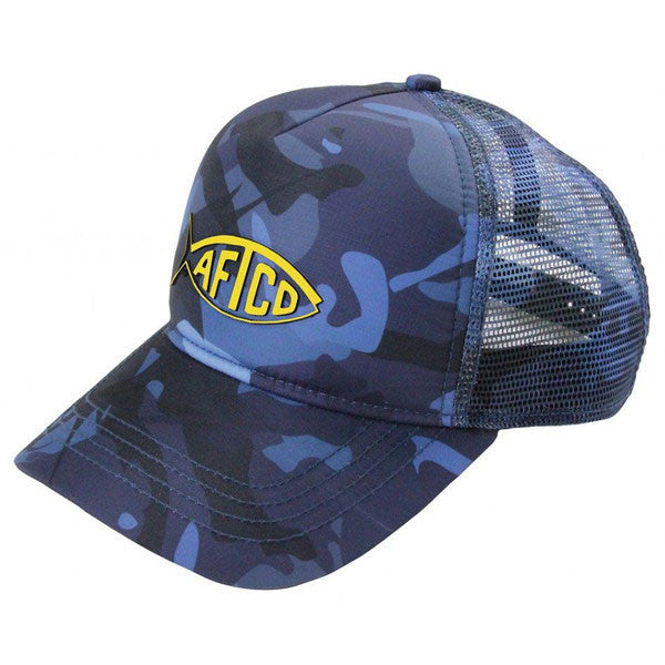 1a0af106534cf Camo Trucker Hat in Blue