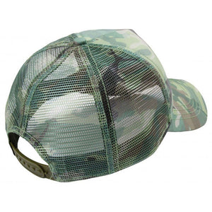 Camo Trucker Hat in Green