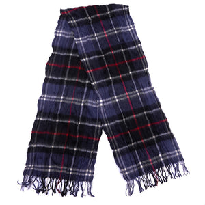 Colton Tartan Scarf in Navy and Red