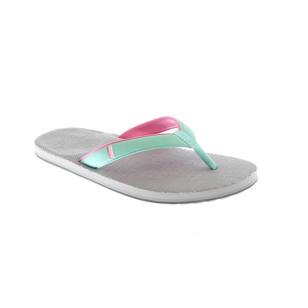 Hari Mari Women's Parks II Flip Flops in Gray & Mint