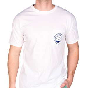 Wave Tee Shirt in White   - 2