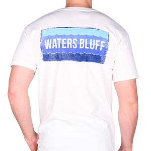 Wave Tee Shirt in White   - 1