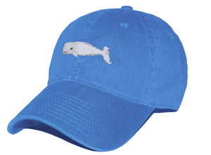 Whale Needlepoint Hat in Royal Blue