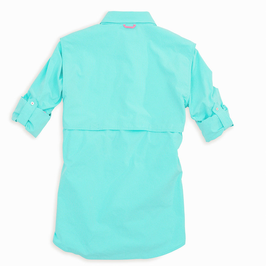 Women's Sullivan Fishing Shirt in Crystal Blue Check   - 1