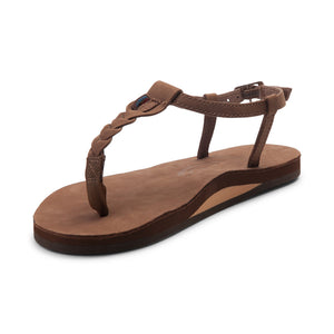 Women's T-Street Single Layer Leather Sandal